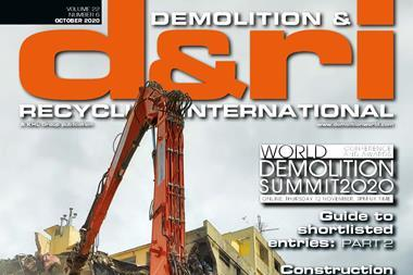 Parlano di noi: Demolition And Recycling International del 19 Ottobre 2020